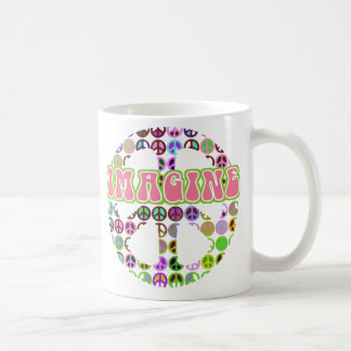 Imagine Peace Retro Mug