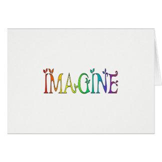 IMAGINE Rainbow Colorful Card