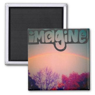 Imagine rainbow magnet