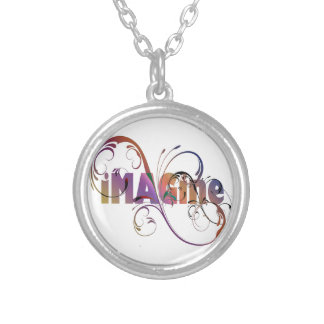 """Imagine"" Silver Plated Necklace"
