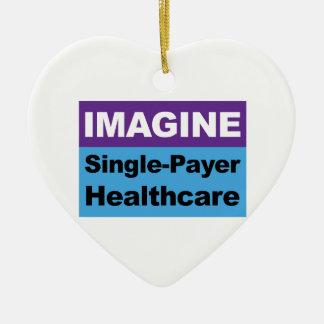 Imagine Single Payer Healthcare Ceramic Heart Decoration