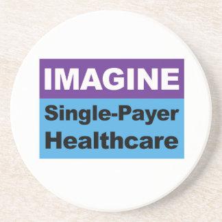 Imagine Single Payer Healthcare Coaster