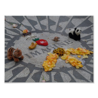 Imagine Strawberry Fields Central Park NYC photo Poster