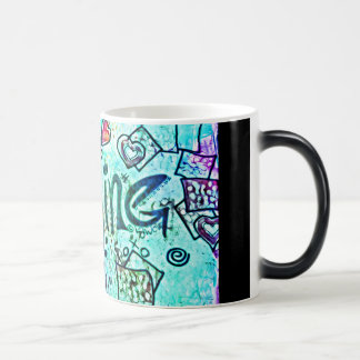 Imagine Theme - Black/Graffiti 11 oz Morphing Mug