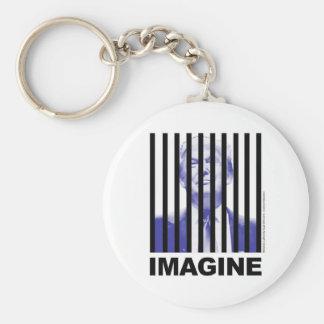 Imagine Trump Behind Bars Basic Round Button Key Ring