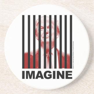 Imagine Trump Behind Bars Coaster