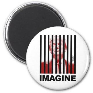Imagine Trump Behind Bars Magnet