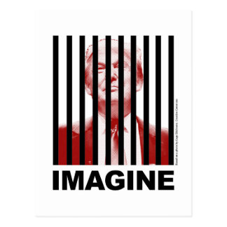 Imagine Trump Behind Bars Postcard