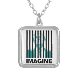 Imagine Trump Behind Bars Silver Plated Necklace