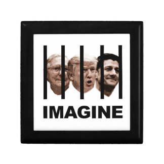 Imagine Trump, McConnell and Ryan Behind Bars Gift Box