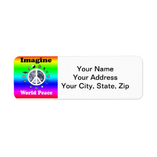 Imagine World Peace Return Address Label