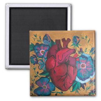 IMAN FLORAL HEART MAGNET