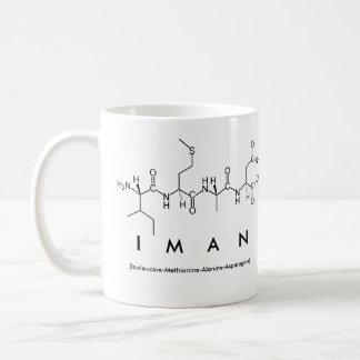 Iman peptide name mug