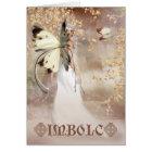 Imbolc Fantasy Fairy Art Card - The Spirit Of Dawn