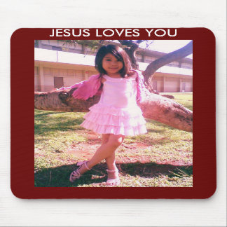 IMELDA PAIGE JESUS LOVES YOU MOUSE PAD