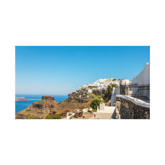 Imerovigli, Santorini and Skaros Rock Canvas Print