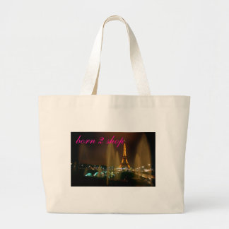 IMG4, born 2 shop Large Tote Bag