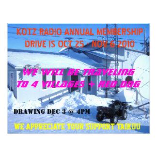IMG_0319, KOTZ RADIO ANNUAL MEMBERSHIPDRIVE IS ... 21.5 CM X 28 CM FLYER