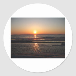 IMG_1043 Alaskan Sundown Round Sticker