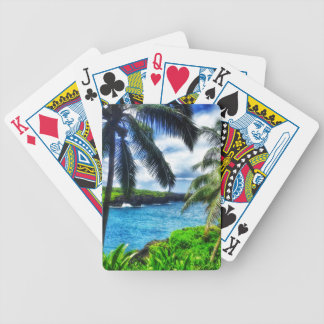 IMG_1122 4 Hawaiian Scene Bicycle Playing Cards