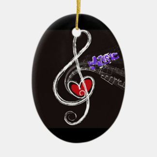 IMG_1857.JPG customizable  Music note designed Ceramic Ornament