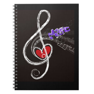 IMG_1857.JPG customizable  Music note designed Notebooks