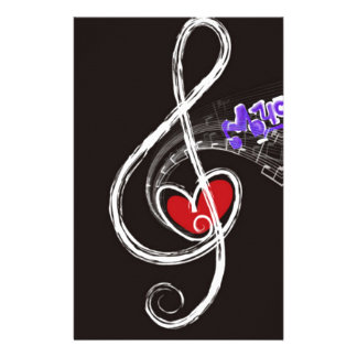 IMG_1857.JPG customizable  Music note designed Stationery