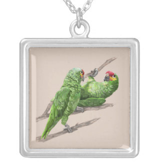 IMG_2521.JPGgreen Parrots Silver Plated Necklace