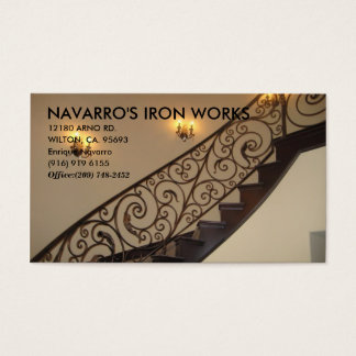 IMG_4575, NAVARRO'S IRON WORKS, 12180 ARNO RD.,... BUSINESS CARD