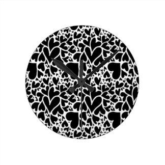 IMG_7746.PNG cute multi heart design customizable Round Clock