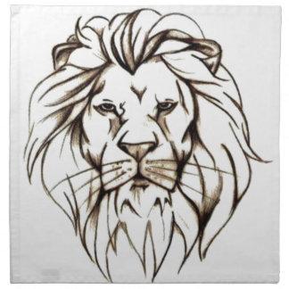 IMG_7779.PNG brave lion design Napkin
