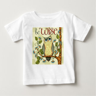 IMG_7786.PNG wise owl customizable design Baby T-Shirt
