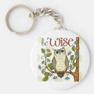 IMG_7786.PNG wise owl customizable design Key Ring