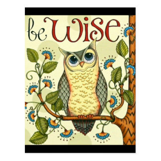 IMG_7786.PNG wise owl customizable design Postcard