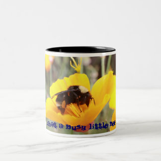 IMG_8745, What a Busy Little Bee Two-Tone Mug
