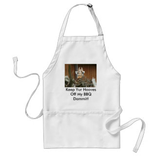 IMG_8793, Keep Yur Hooves Off My BBQ Dammit! Adult Apron