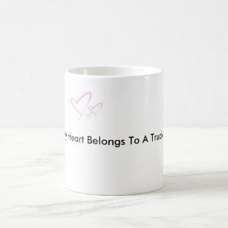 img-thing, My Heart Belongs To A Trucker Coffee Mug