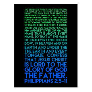 Imitate Christ's Humility Philippians 2:5-11 Postcard