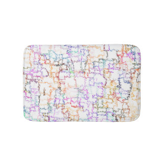 Imitating Hand Drawing Lines Bath Mat