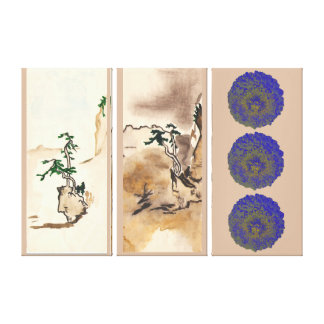 imitating Japanese Gallery Wrapped Canvas