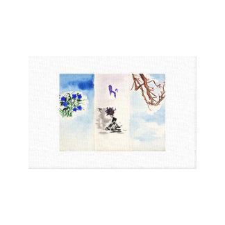 imitating Japanese Canvas Print