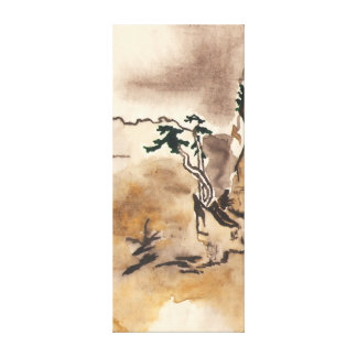 imitating Japanese Stretched Canvas Print