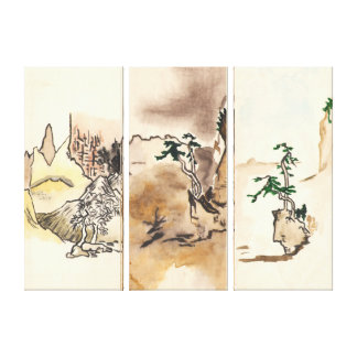 imitating Japanese Stretched Canvas Prints