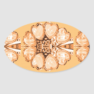 Imitation Jewel Pattern Deco Gifts FUN everyday 99 Oval Sticker