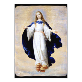 Immaculate Conception Cloud and Cherub - Zurbaran Card