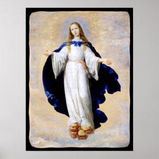 Immaculate Conception Cloud and Cherub - Zurbaran Poster
