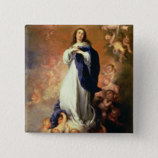 Immaculate Conception of the Escorial, c.1678 15 Cm Square Badge