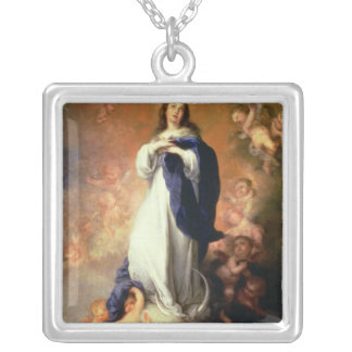 Immaculate Conception of the Escorial, c.1678 Silver Plated Necklace