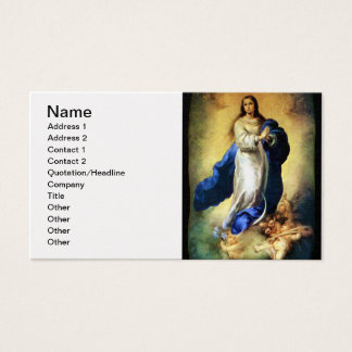 Immaculate Conception of Virgin Mary - Murillo Business Card
