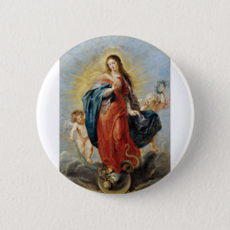 Immaculate Conception - Peter Paul Rubens 6 Cm Round Badge